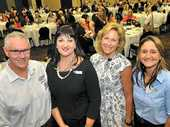 INSPIRING: QCLNG project director for midstream David Craft, event co-ordinator Melissa Sellwood, guest speaker Judy Reynolds and Trina Schmidt from Gladstone Ports Corporation.
