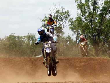 FLYING HIGH: Motocross riders took to the Clermont course for the first time in three years on the weekend.