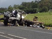 A truck driver has been transported to Mackay Base Hospital in a serious condition following crash.