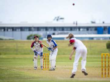 The under-14 cricket match between Brothers and Yaralla at Clinton Oval on March 8, 2014.