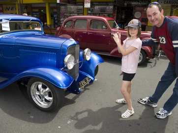 Hot rods fill the Toowoomba CBD streets for the annual High Altitude Hot Rod Run.