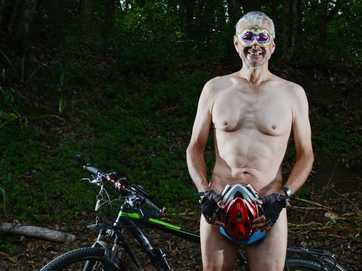 Cyclists got their gear off for the annual World Naked Bike Ride at Nimbin.