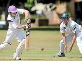 CLEVER CUT: Adam Rogers from Pottsville Cricket Club batting against Alstonville in The LJ Hooker League.