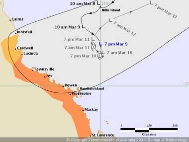 The low is showing greater than usual uncertainty in how its tracking off the coast of Queensland.