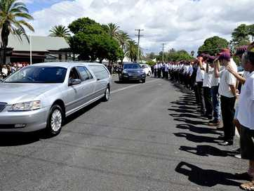Family and friends honour the life of Tony Porter at St Mary's Anglican Church at Ballina.