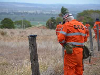 SEARCHING: SES crews continue the search at a property in Murgon.