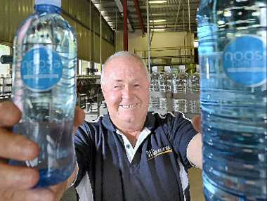 Peter Lavin with his new product, Noosa water.