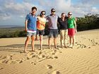 A GROUP of international travel industry representatives visited Rainbow Beach on March 1.