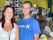 NEW OWNERS: Jazz and Craig McKenna have taken over the Evans Head Newsagency.