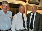 SPECIAL GUEST (from left): Col Smith, Ross Fraser and David Crombie  at the recent business lunch at the Warwick Club.