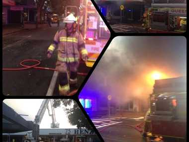 A Caloundra business was destroyed by an early morning fire.