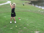 Pint-sized girl golfer who will make big fellas cry