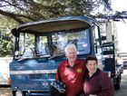 Bill O'Halloran and wife , Pat, at the History of Transport, Heritage Truck Display at Lancefield Feb 22 and 23. Photo Graham Harsant / Big Rigs