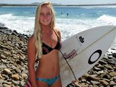 FUNDING WIPEOUT: Champion surfer, Coolum's Isabella Nichols, gets less funding than the boys.