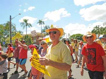 Photos from March in March protests against Tony Abbott in Lismore on Saturday