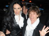 SIR Mick Jagger and some of his close friends, including Dave Stewart, paid tribute to L'Wren Scott at her funeral in Los Angeles on Tuesday.