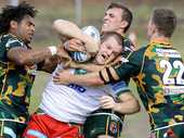THE Ipswich Jets' win over Wynnum last weekend has been lauded by co-coach Ben Walker as one of the gutsiest displays he has been associated with.