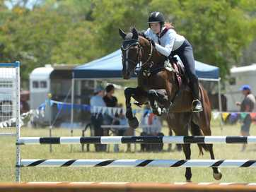 Action from the PCAQ Show Jumping event at Crompton Park Pony Club last weekend.   Photos CHRIS ISON