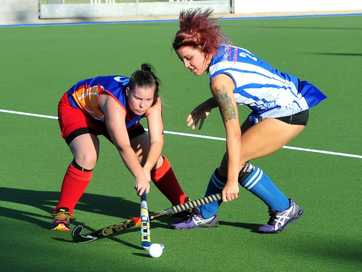 A selection of photos taken at the Women's hockey match between Arrows and Wallaroos.