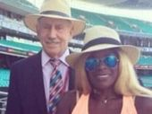 MARCIA Hines has been left red faced after tweeting a picture of Ian Chappell at the major league baseball - and calling him the late Tony Greig.