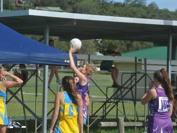 Iluka v Maclean during Saturday's LCNA Division One netball match. Photos: Matthew McInerney/The Daily Examiner