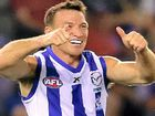 IT WAS left to veteran North Melbourne midfielder Brent Harvey to teach these new Dogs some old tricks as the Kangaroos ran out 29-point winners.
