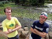 Sam Dawson and Ben Stillaway from the Caldera Environmental Centre want to preserve the ibis.