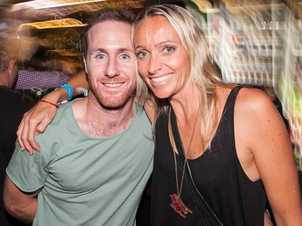Benjamin Fraser and Mary Cognito at the Racehorse Hotel on Saturday night. Photo: Nick O'Sullivan / The Queensland Times