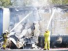 THERE was traffic chaos on the Warrego Hwy on Tuesday after a truck carrying 15 tonnes of cotton caught fire.