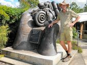 "CHRIS ""Brolga"" Barnes does not look up tomany people, but the Kangaroo Dundee star was in awe of the work of one of his idols during a visit to Australia Zoo."
