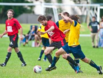 Coffs United Lions plays Orara Valley Dingoes at Maclean St Oval.  Photo: Rob Wright / The Coffs Coast Advocate