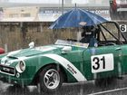 THE rain was nothing more than a speed bump in the road at this weekend's Autumn Historics Race Meeting at Morgan Park.