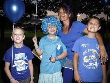 Centenary Lakes turned blue earlier this month to raise awareness for autism.