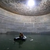 BECHTEL employees have used inflatable boats inside one of the massive QCLNG tanks filled with water to perform a series of tests and cleaning duties.