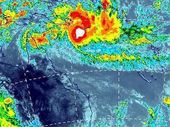 A satellite image of Cyclone Ita as it heads for the Queensland coast.