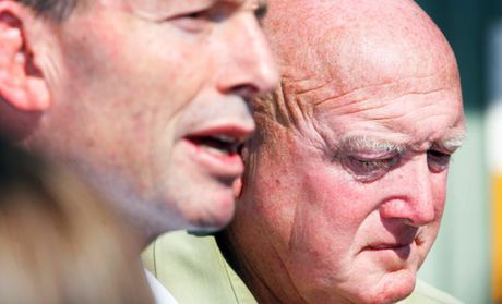 The trucking industry has paid tribute to Terry Nolan, seen here with Tony Abbott in 2011.