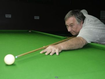 Players compete in  Bribie Island Over-50s Snooker Handicap tournament, which took place over the weekend.