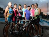 AT the Ipswich Triathlon Club training session on Tuesday, there was only one man among a group of a dozen women.