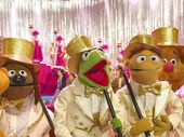 THE GANG'S ALL HERE: From left, the characters Scooter, Rowlf, Kermit, Walter, Fozzie and Gonzo in Muppets Most Wanted.