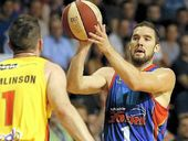 36ERS captain Adam Gibson says if push comes to shove in tonight's second game of the best-of-three NBL grand final series, his team won't take a backward step.