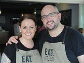 Dan and Steph Mulheron from Eat at Dan & Steph's on the Esplanade in Hervey Bay.
