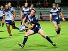 THE Rockhampton Leagues Capras recorded their first win of the Intrust Super Cup season last night, holding off a fast finishing Wynnum Seagulls to win 26-18.