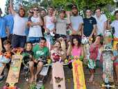 SKATEBOARDERS from along the east coast of Australia have hit the pavement to change a little boy's life.