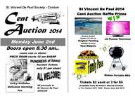 St Vincent De Paul Annual Giant Cent Auction -   