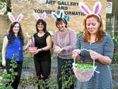 Shona Gibson, Betty Gaffney, Tracy Vellacott and Julie Peterson are all hopping mad about the Easter Fair on Saturday.