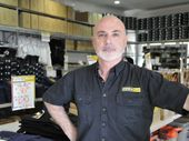 WORKWEAR Discounts owner Bernie Baz said his staff had been abused by detention basin protestors.