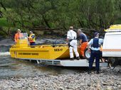 POLICE divers spent hours on the bottom of the Clarence River at Ewingar attempting to recover pieces of wreckage from the plane, which crashed on Saturday.