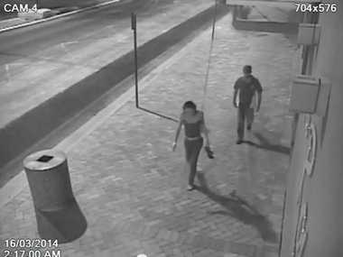 CCTV footage shows Alexis Jeffery with man hours before her suspected murder.