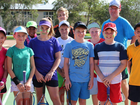 PROSERPINE TENNIS LOCAL youth hit the courts for a week-long holiday tennis camp at the Proserpine Tennis Club last week.