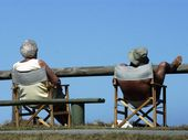 A couple of retirees relaxing and catching a tan at Kawana Photo: Brett Wortman / Sunshine Coast Daily
